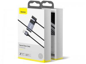 مبدل سه کاره بیسوس مدل Special Data Cable for Backseat مناسب برای سرنشینان عقب خودرو