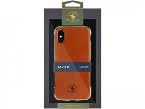 کاور چرمی سانتا باربارا پولو مدل Xavier مناسب برای گوشی موبایل آیفون Xs Max