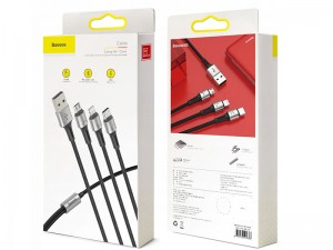 کابل سه سر بیسوس مدل Caring 3in1 Cable