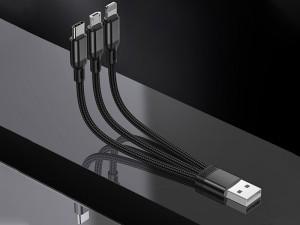 کابل سه سر جویروم مدل S-M416 Portable Series 3in1 Short Cable