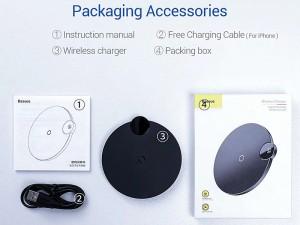 شارژر وایرلس بیسوس مدل Digital LED Display Wireless Charger