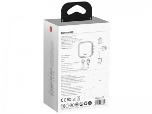شارژر دیواری و آداپتور جهانی بیسوس مدل  Removable 2in1 universal travel adaptor PPS Quick Charger Edition