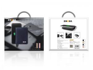 کیف چرمی و پاور بانک 4000 میلی آمپر ژوس مدل ZS-PB-013