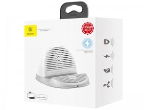 پایه نگهدارنده و شارژر وایرلس رومیزی بیسوس مدل BSWC-P11 Silicone Desktop Wireless Charger
