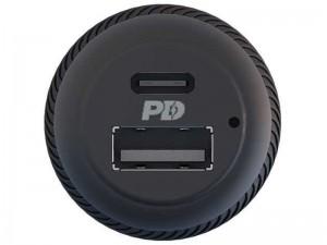 شارژر فندکی فوق العاده سریع پاورولوژی مدل PPDCCLBK Ultra-Quick 30W بهمراه کابل تایپ سی به لایتنینگ