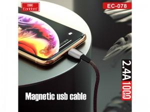 کابل فست شارژ مگنتی لایتنینگ ارلدام مدل EC-078
