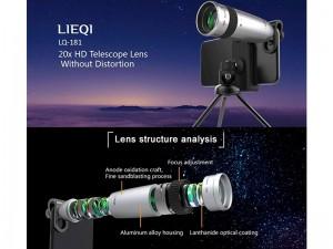 لنز تلسکوپی گوشی موبایل با سه پایه لی کیو آی مدل LQ-181