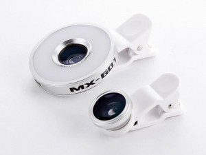 لنز کلیپسی و فلاش موبایل مدل MX-601 6in1