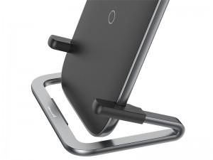 شارژر وایرلس و پایه نگهدارنده رومیزی گوشی موبایل بیسوس مدل Rib Horizontal and Vertical Holder