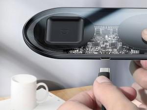 شارژر بی سیم دو کاره بیسوس مدل Simple 2in1 Wireless Charger مناسب برای  گوشی موبایل و ایرپاد