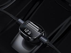 شارژر فندکی و پخش کننده بلوتوث بیسوس مدل Streamer F40 AUX Wireless MP3 Car Charger