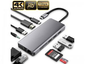 هاب 11 پورت USB-C پاورو لوژی مدل P11CHBGY