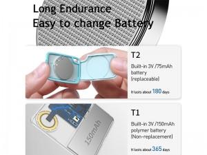 کارت ردیاب هوشمند بلوتوثی بیسوس مدل T2 Intelligent Card type anti-loss device