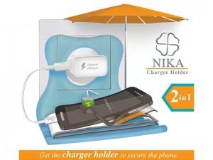 هولدر چند منظوره نیکا مدل NIKA 2in1 Charger Holder