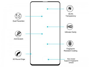 محافظ صفحه نمایش گرین مدل 3D Curved Hot Benoing Glass مناسب برای گوشی موبایل سامسونگ S10 پلاس