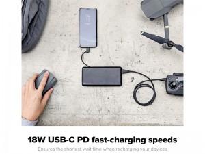 پاور بانک فست شارژ 12000 میلی آمپر موفی مدل powerstation plus XL