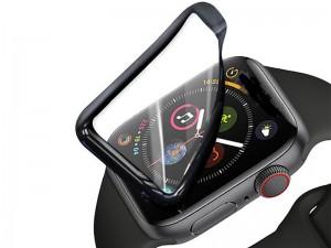 محافظ صفحه نمایش اپل واچ سری 3، 4 و 5 گرین مدل 3D Curved PET مناسب برای سایز 44 میلیمتری