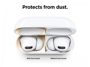 برچسب محافظ سطح داخلی کیس شارژ ایرپاد پرو برند الاگو مدل AirPods Dust Guard (پک 2 عددی)