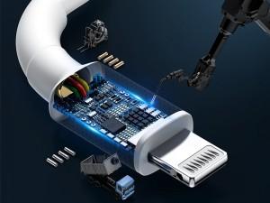 کابل تبدیل Type-C به Lightning بی ام ایکس مدل Mini White دارای تاییدیه MFi شرکت اپل