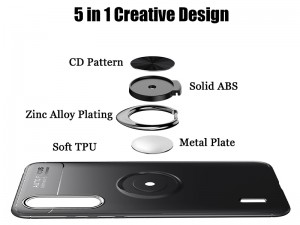 کاور حلقه انگشتی مدل Becation مناسب برای گوشی موبایل شیائومی Mi A3/Mi CC9e