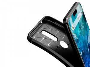 کاور فیبر کربنی اتوفوکوس مناسب برای گوشی موبایل نوکیا 5.1 پلاس