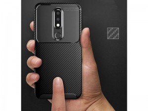 کاور فیبر کربنی اتوفوکوس مناسب برای گوشی موبایل نوکیا 6.1 پلاس