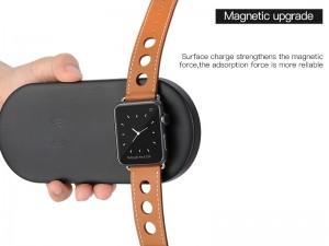 شارژر بی سیم دو کاره کوتچی مدل CS5160 مناسب برای شارژ گوشی و اپل واچ سری 1 تا 5