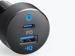 شارژر فندکی فست شارژ انکر مدل A2721 PowerDrive PD + 2