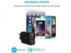 شارژر دیواری فست شارژ انکر مدل A2013 PowerPort+ 1 with Quick Charge 3.0