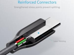 کابل  دو سر تایپ سی انکر مدل A8187 PowerLine Plus به طول 1.8 متر