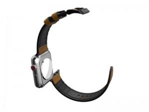بند چرمی ساعت ایکس دوریا مدل Hybrid Leather Band مناسب برای اپل واچ 42 و 44 میلیمتری