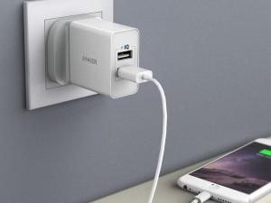 شارژر دیواری فست شارژ انکر مدل A2021 24W 2-Port USB Charger