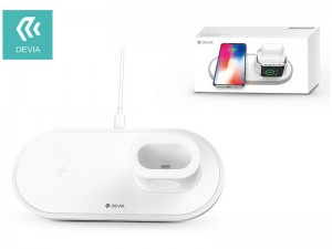 شارژر بی سیم سه کاره دیویا مدل EA162 مناسب برای شارژ گوشی، ایرپاد و اپل واچ