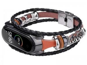 بند چرمی فلزی دستبند هوشمند شیائومی می بند 3 و 4