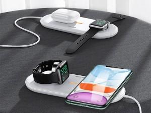 شارژر بی سیم دو کاره یوسمز مدل US-CD119 با قابلیت شارژ گوشی، ایرپاد و اپل واچ سری 1 تا 5