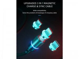 کابل مگنتی فست شارژ سه سر راک اسپیس مدل G10 3 in 1