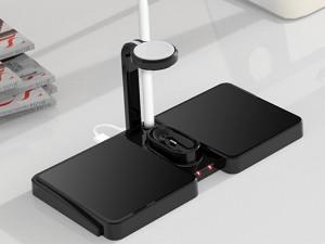 شارژر بی سیم چهار کاره پرودا مناسب برای شارژ گوشی، ایرپاد و اپل واچ