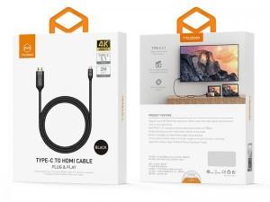 کابل تبدیل Type-C به HDMI مک دودو مدل CA-5880 به طول 1.8 متر