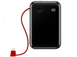 پاور بانک فست شارژ 10000 میلی آمپر بیسوس مدل Mini S Digital Display با کابل لایتنینگ