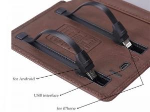کیف چرمی و پاور بانک 4000 میلی آمپر ژوس مدل ZS-PB-018
