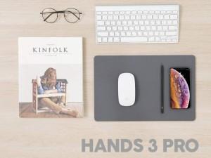 ماوس پد هوشمند با قابلیت شارژ بی سیم مدل POUT Hands 3 Pro