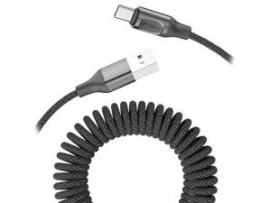 کابل فنری تایپ سی راک مدل RCB0657 Metal Stretchable