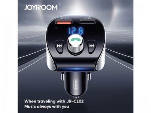 شارژر فندکی و پخش کننده بلوتوث جویروم مدل JR-CL02 Shadow Series با قابلیت مکالمه