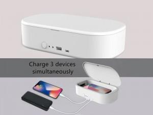 دستگاه ضد عفونی کننده گوشی موبایل ارلدام مدل OD-KFX001 با قابلیت شارژ وایرلس