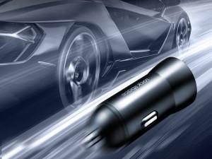 شارژر فندکی فست شارژ راک اسپیس مدل H8 Dual Car Charger