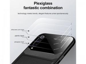 کاور دور دوخت چرم و گلس مدل Delicate Case مناسب برای گوشی موبایل سامسونگ A70/A70s