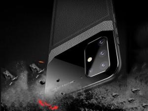 کاور دور دوخت چرم و گلس مدل Delicate Case مناسب برای گوشی موبایل سامسونگ A51