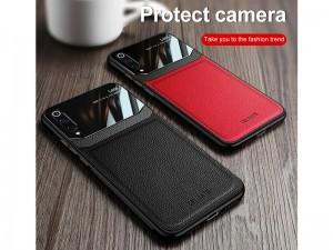 کاور دور دوخت چرم و گلس مدل Delicate Case مناسب برای گوشی موبایل سامسونگ A50/A50s/A30s