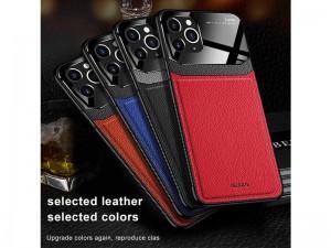 کاور دور دوخت چرم و گلس مدل Delicate Case مناسب برای گوشی موبایل آیفون 11 پرو مکس