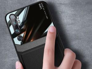 کاور دور دوخت چرم و گلس مدل Delicate Case مناسب برای گوشی موبایل شیائومی Mi CC9 Pro/Mi Note 10/Mi Note 10 Pro
